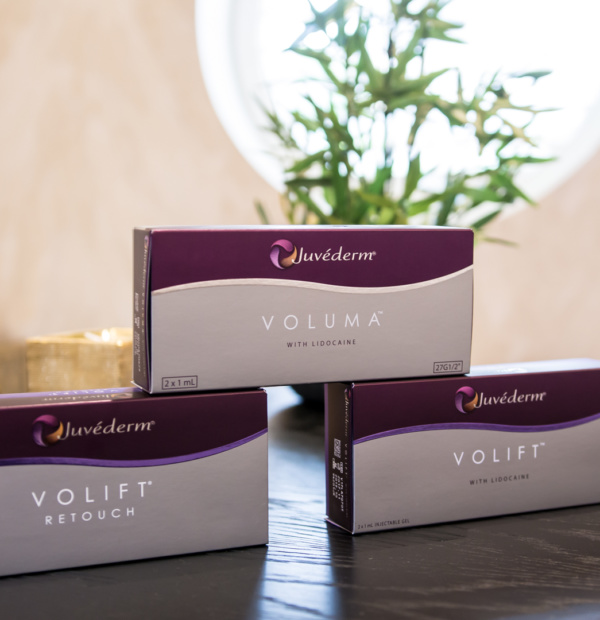 Juvederm products on a table